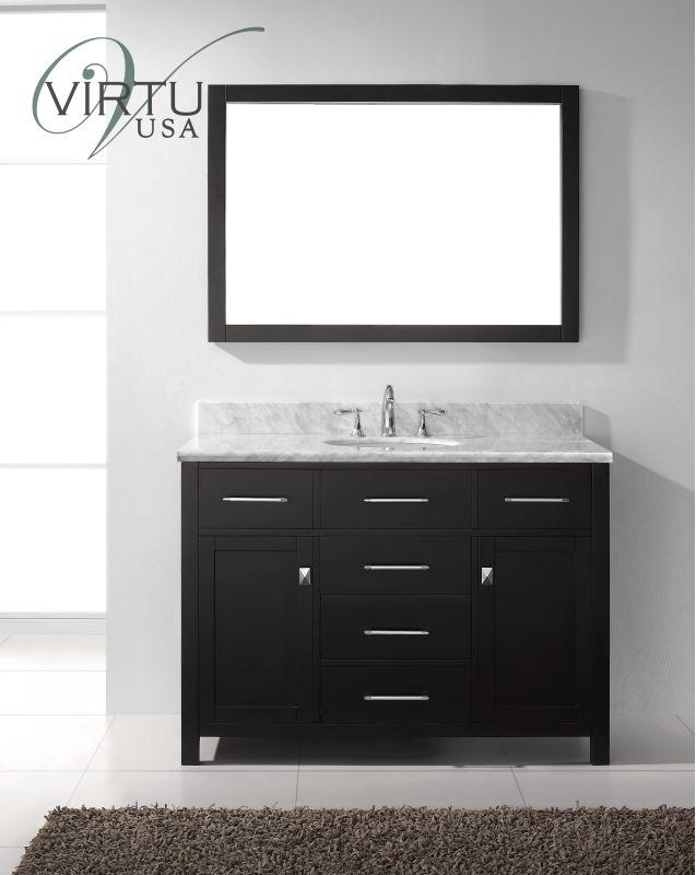 Virtu Usa Ms 2048 Cab Es Espresso Caroline Avenue 48 Bathroom Vanity Set Includes Cabinet