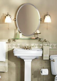 Bathroom Lighting with faucets and fixtures