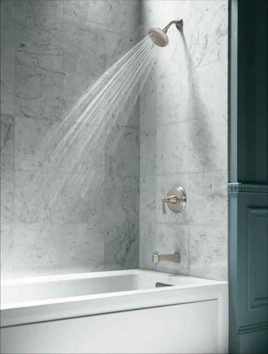 Kohler k 1123 ra 0 white archer collection 60 three wall for Deep soaking tub alcove