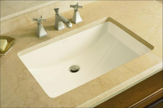 Kohler K 2214 47 Almond Ladena 20 7 8 X 14 3 8 X 8 1 8 Undermount Bathroom Sink With Overflow