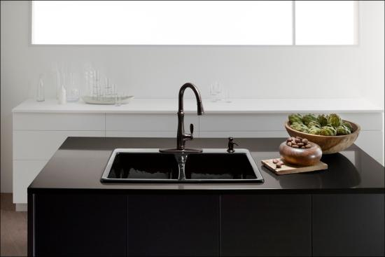7 Faucet Finishes For Fabulous Bathrooms: Kohler K-560-CP Polished Chrome Bellera Single-Hole Or