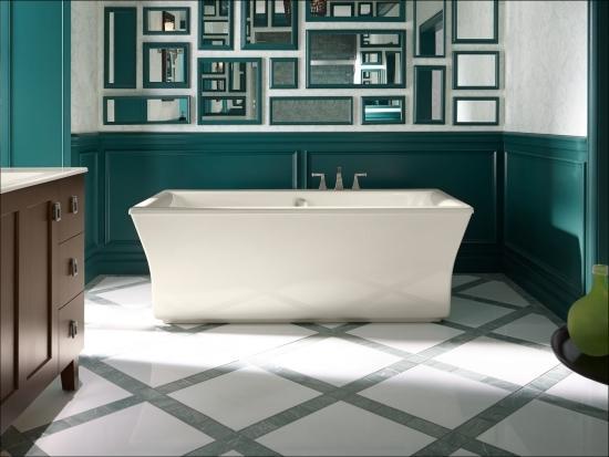 Kohler K 6367 0 White Stargaze 72 Quot Free Standing Bath Tub