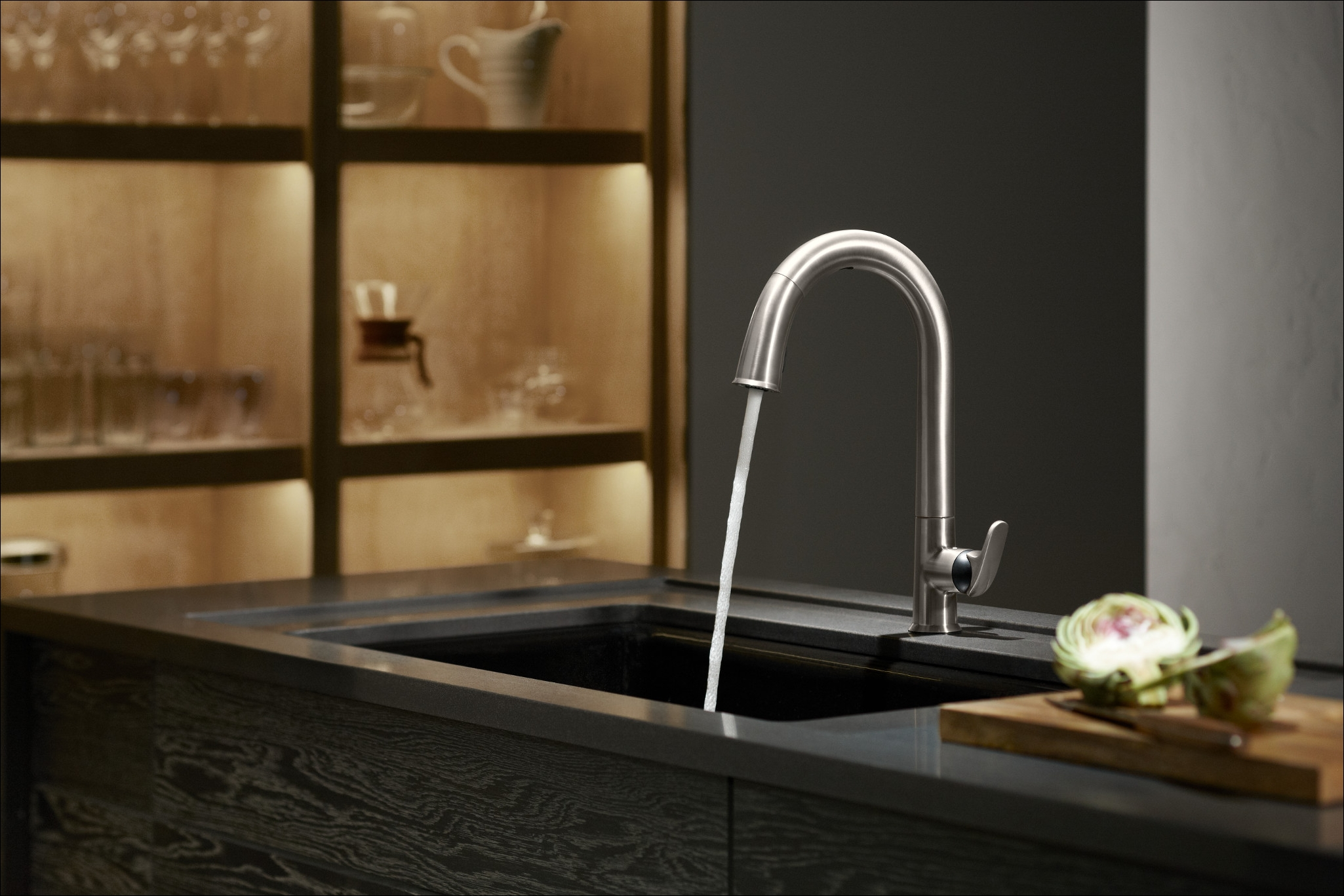 kohler k 72218 cp polished chrome sensate touchless kitchen faucet