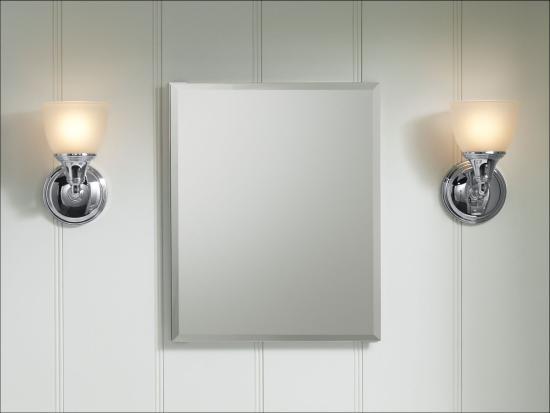 Kohler K Cb Clr1620fs Silver Aluminum 16 Quot X 20 Quot Single Door Reversible Hinge Frameless Mirrored