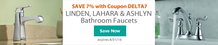 Delta Linden, Lahara and Ashlyn Bathroom Faucets on Sale