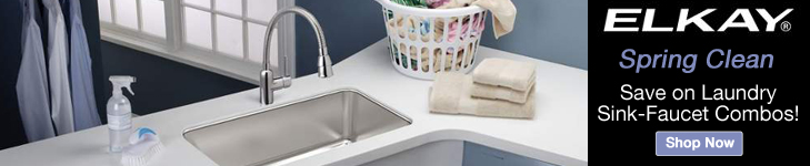 Save on Elkay Laundry Sink Faucet Combos!