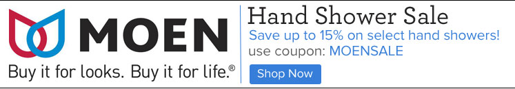 Save on select Moen Hand Showers with MOENSALE