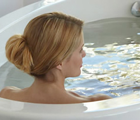 Woman enjoying the Jacuzzi Experience